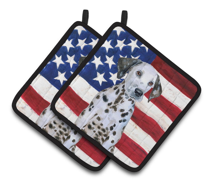 Buy this Dalmatian Puppy Patriotic Pair of Pot Holders BB9708PTHD