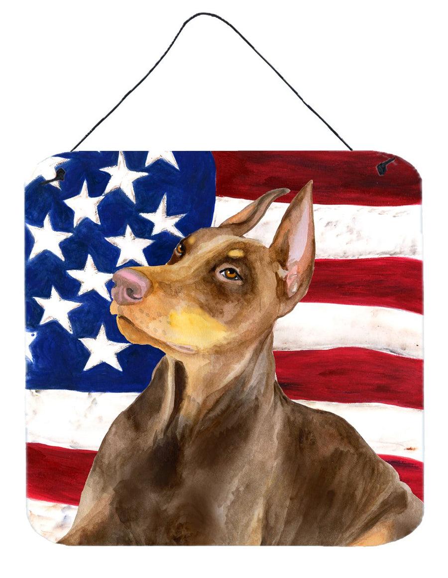 Buy this Doberman Pinscher Patriotic Wall or Door Hanging Prints BB9709DS66