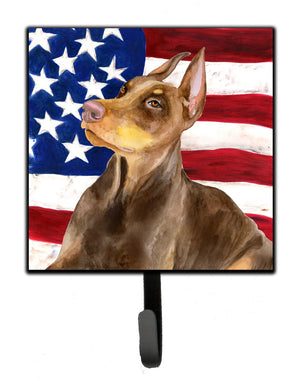 Buy this Doberman Pinscher Patriotic Leash or Key Holder BB9709SH4