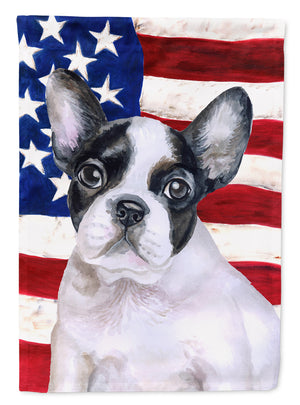 Buy this French Bulldog Black White Patriotic Flag Canvas House Size BB9710CHF