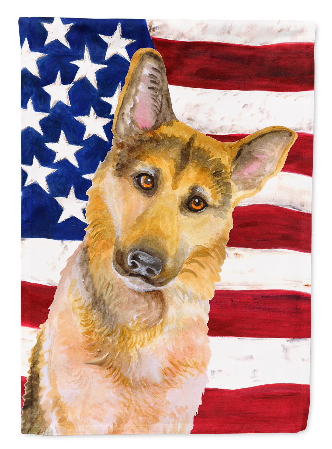 Buy this German Shepherd #2 Patriotic Flag Canvas House Size BB9711CHF