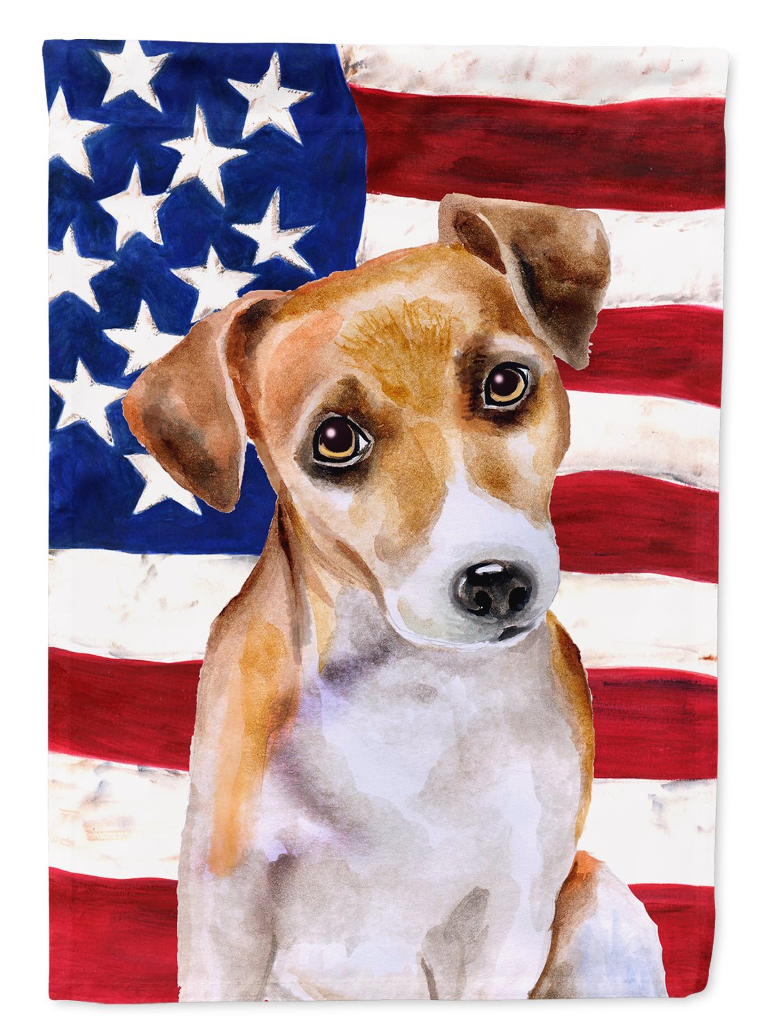 Buy this Jack Russell Terrier #2 Patriotic Flag Canvas House Size BB9713CHF