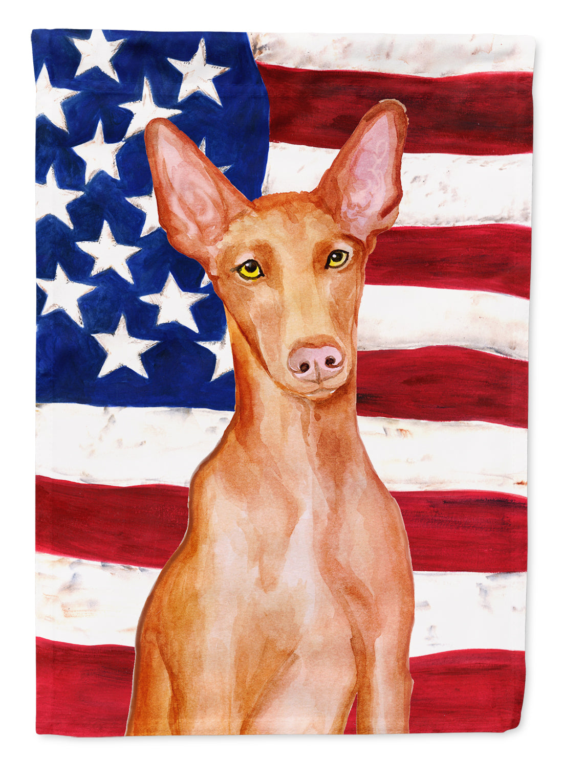 Buy this Pharaoh Hound Patriotic Flag Canvas House Size BB9715CHF