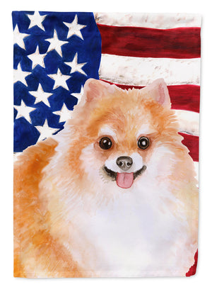Buy this Pomeranian #2 Patriotic Flag Canvas House Size BB9716CHF