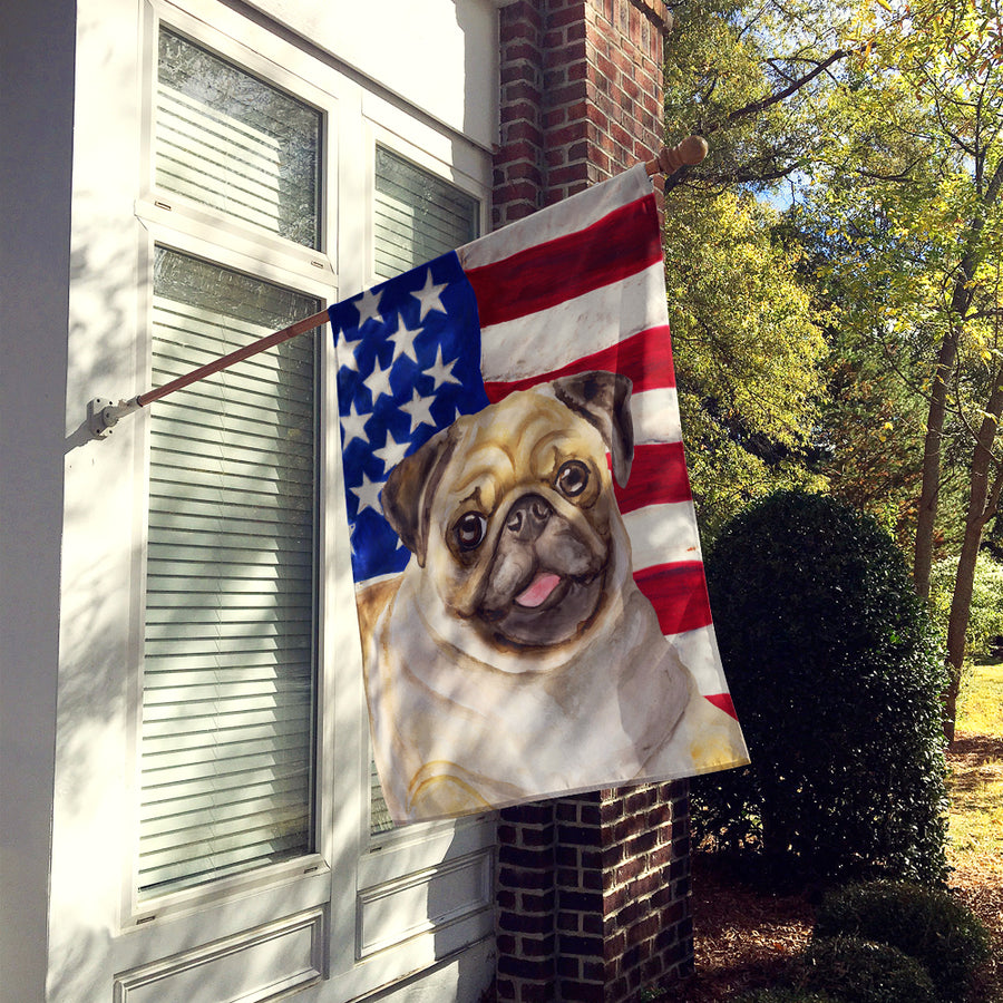 Buy this Fawn Pug Patriotic Flag Canvas House Size BB9718CHF