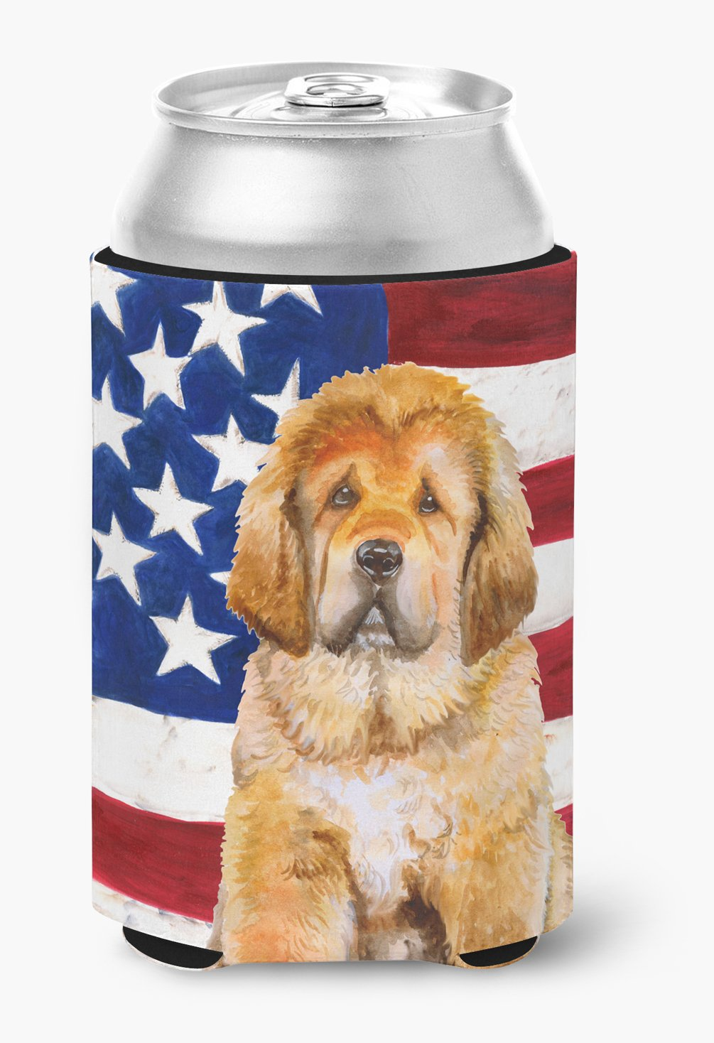 Buy this Tibetan Mastiff Patriotic Can or Bottle Hugger BB9721CC