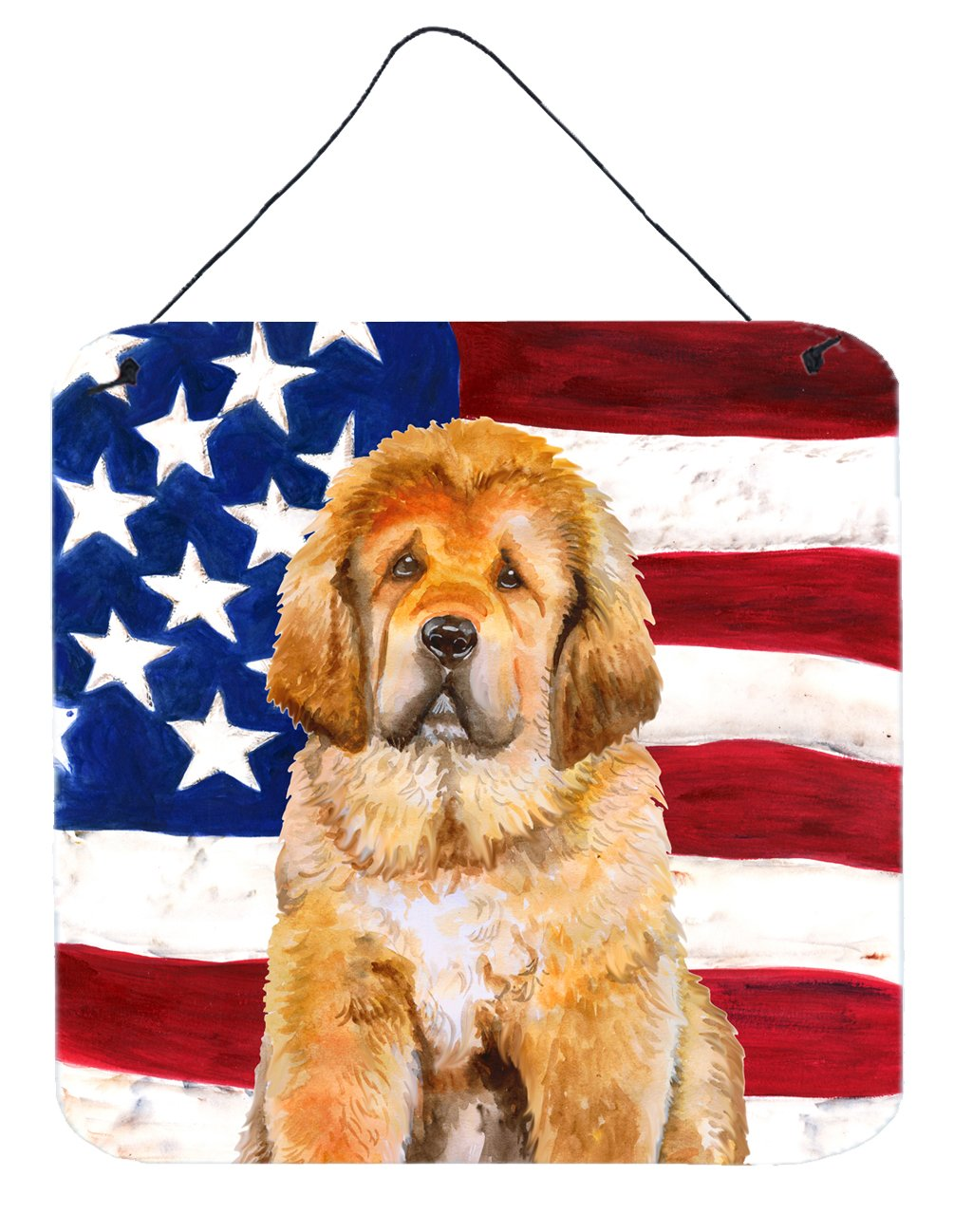 Buy this Tibetan Mastiff Patriotic Wall or Door Hanging Prints BB9721DS66