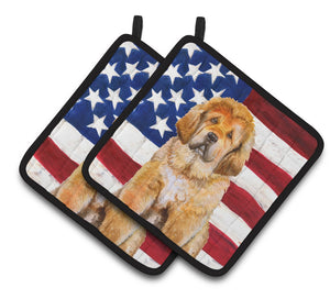 Buy this Tibetan Mastiff Patriotic Pair of Pot Holders BB9721PTHD