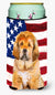 Tibetan Mastiff Patriotic Tall Boy Beverage Insulator Hugger BB9721TBC by Caroline's Treasures
