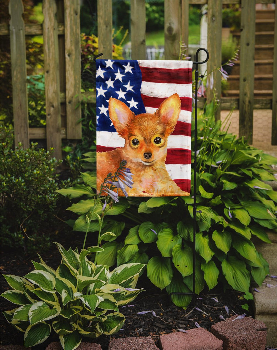 Buy this Toy Terrier Patriotic Flag Garden Size BB9722GF
