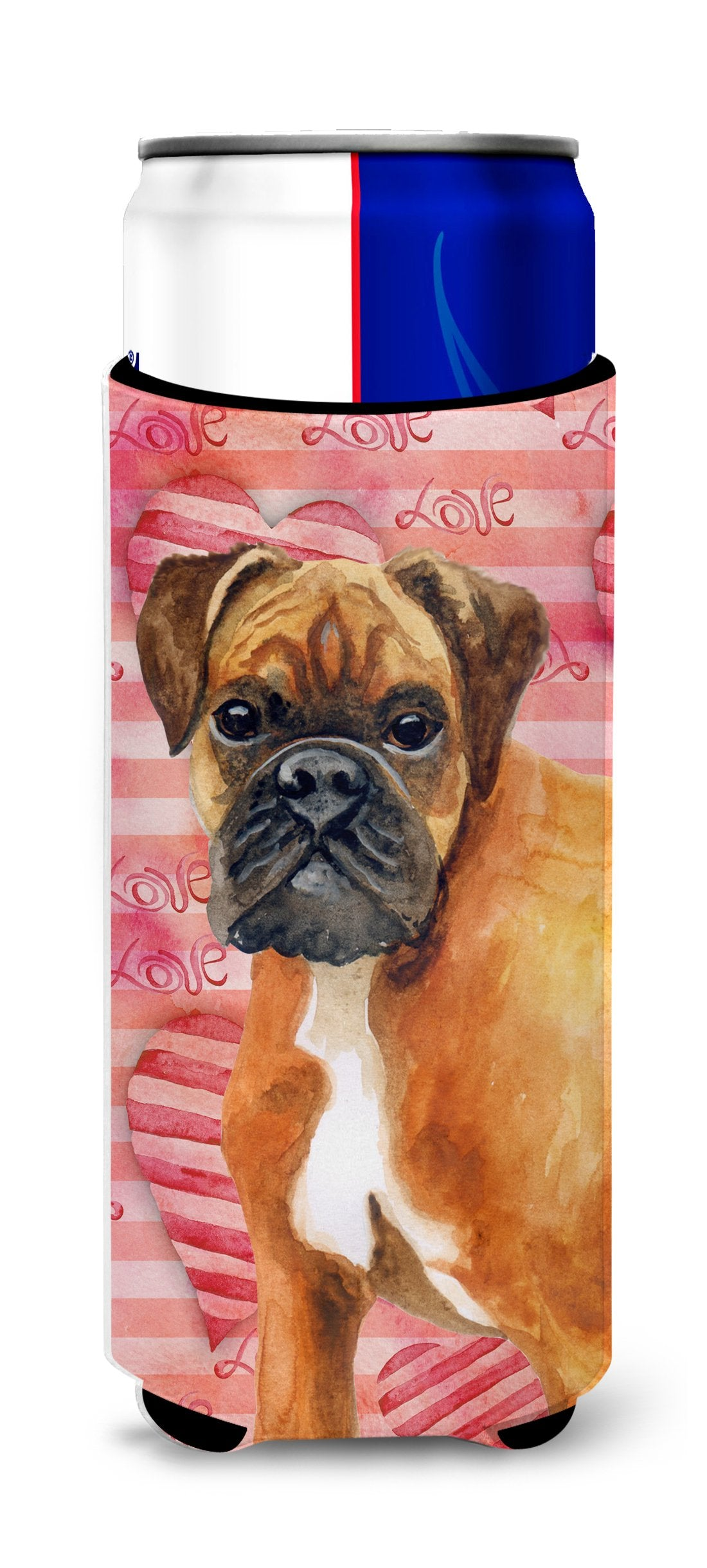 German Boxer Love Michelob Ultra Hugger for slim cans BB9727MUK by Caroline's Treasures