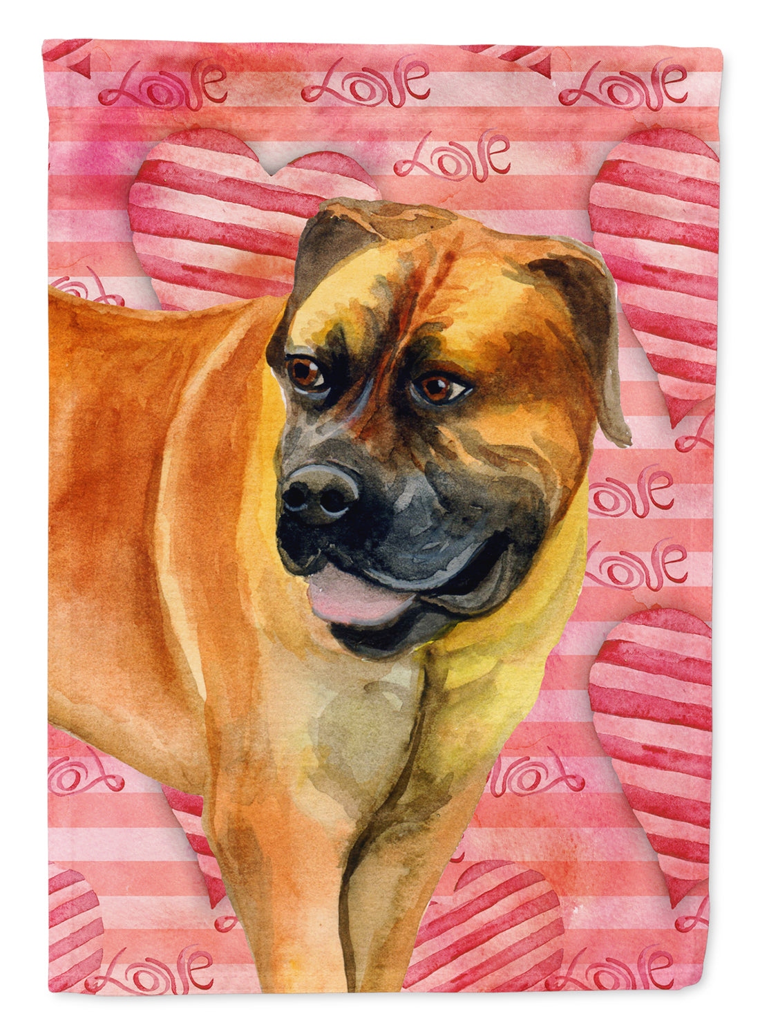 Boerboel Mastiff Love Flag Canvas House Size BB9733CHF by Caroline's Treasures