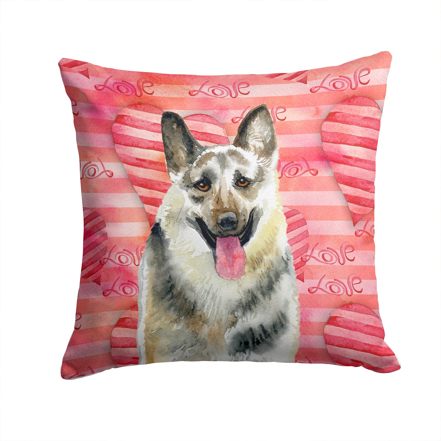 Buy this East-European Shepherd Love Fabric Decorative Pillow BB9736PW1414