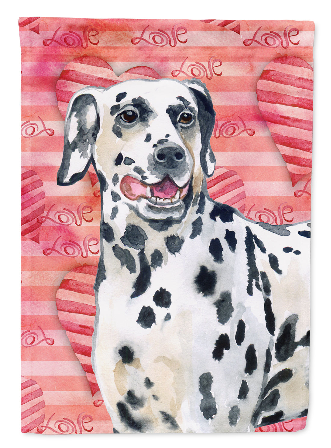 Dalmatian Love Flag Canvas House Size BB9740CHF by Caroline's Treasures
