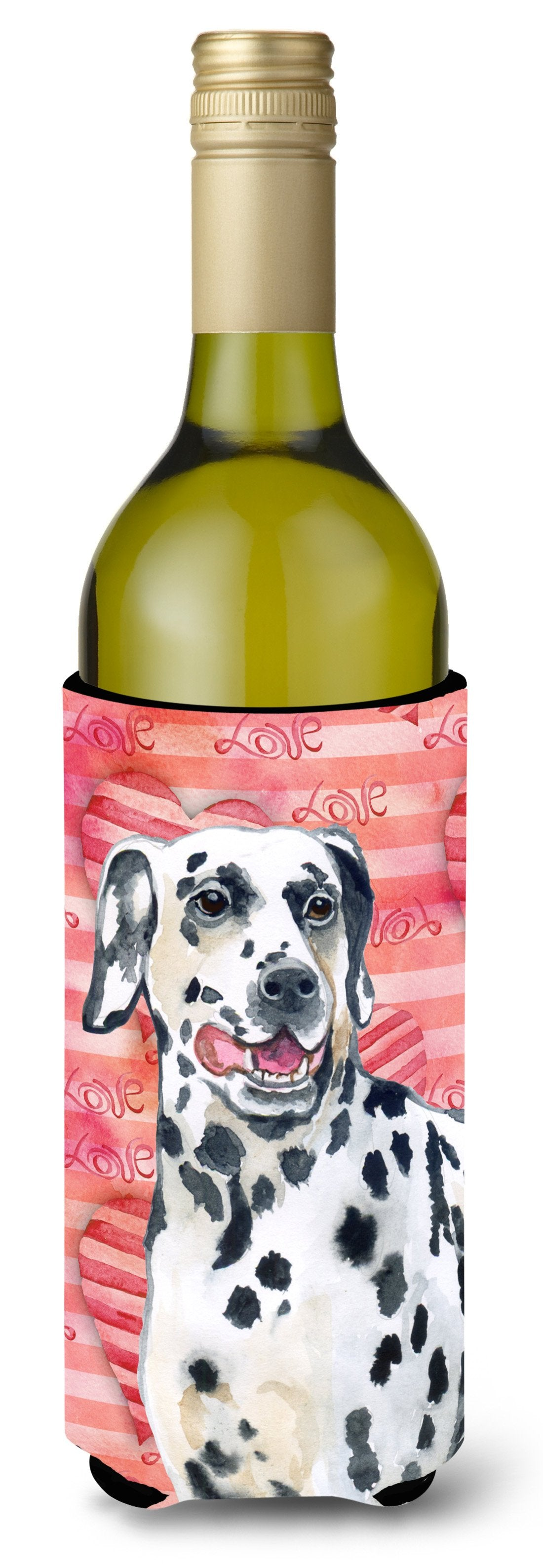 Dalmatian Love Wine Bottle Beverge Insulator Hugger BB9740LITERK by Caroline's Treasures