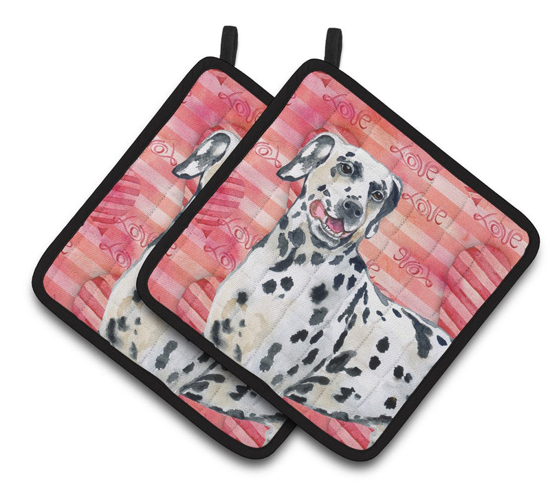 Buy this Dalmatian Love Pair of Pot Holders BB9740PTHD