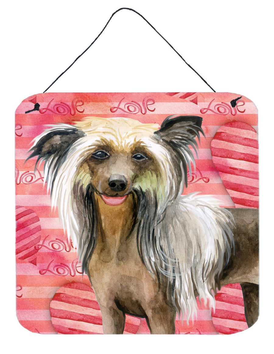 Buy this Chinese Crested Love Wall or Door Hanging Prints BB9746DS66
