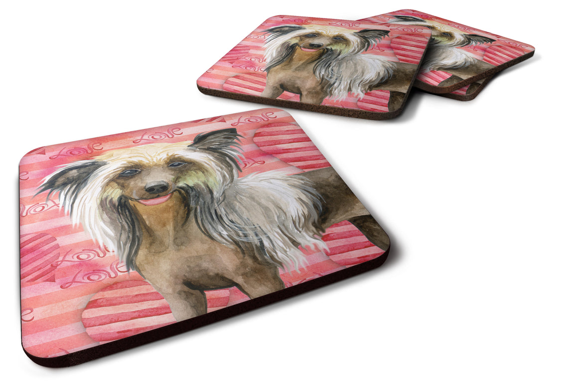 Buy this Chinese Crested Love Foam Coaster Set of 4 BB9746FC