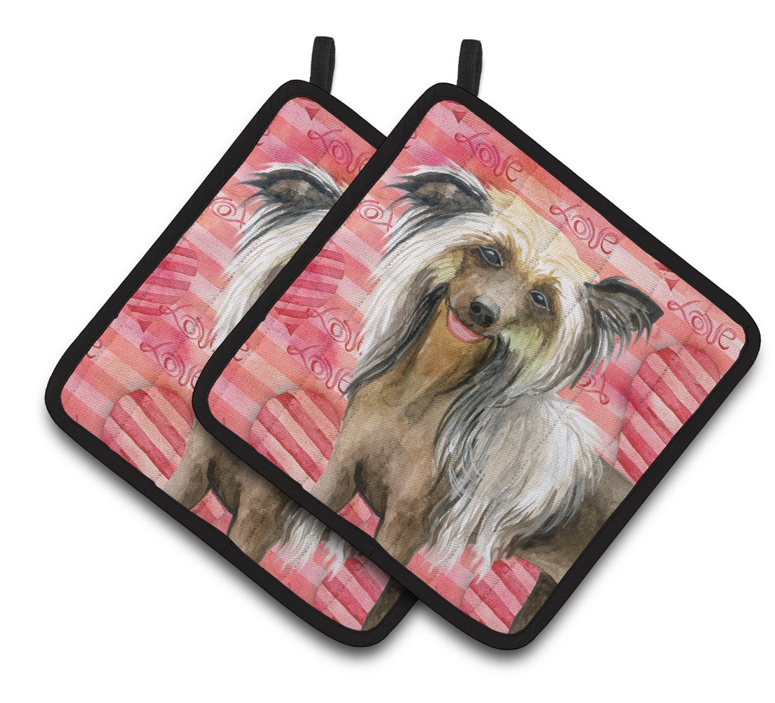 Buy this Chinese Crested Love Pair of Pot Holders BB9746PTHD