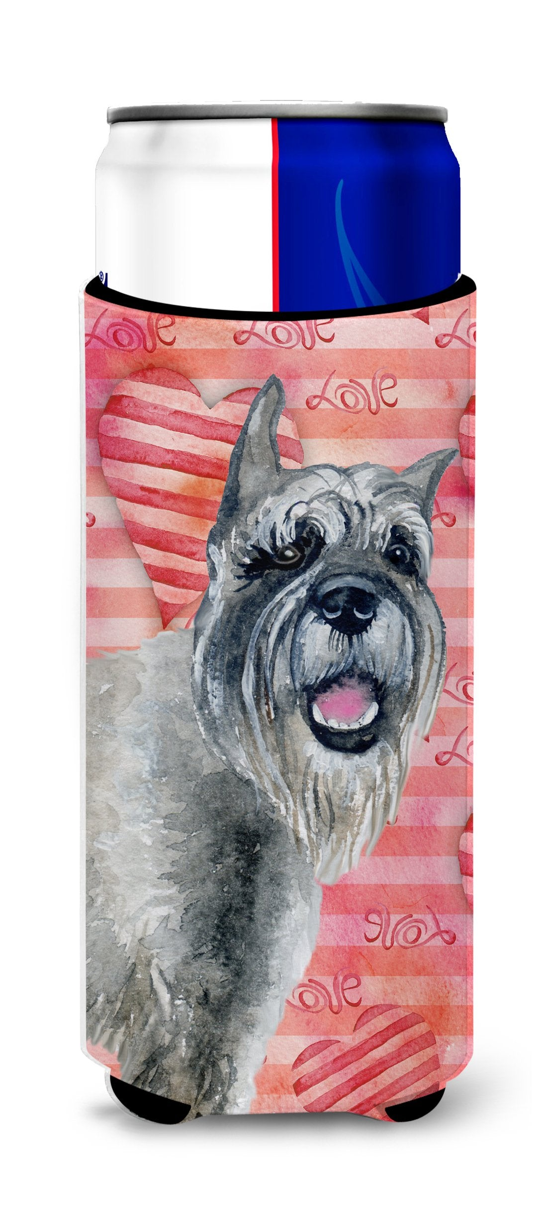 Schnauzer Love Michelob Ultra Hugger for slim cans BB9749MUK by Caroline's Treasures