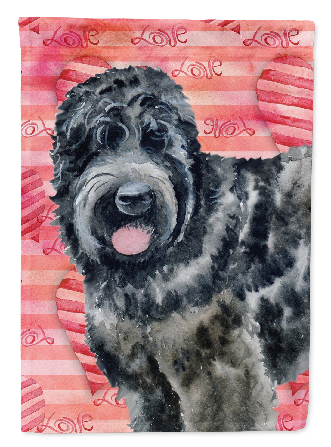 Black Russian Terrier Love Flag Canvas House Size BB9764CHF by Caroline's Treasures