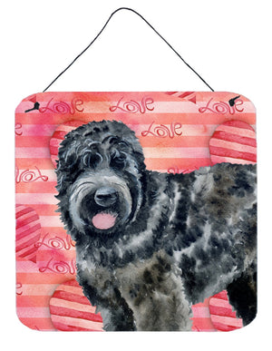 Buy this Black Russian Terrier Love Wall or Door Hanging Prints BB9764DS66