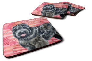 Buy this Black Russian Terrier Love Foam Coaster Set of 4 BB9764FC