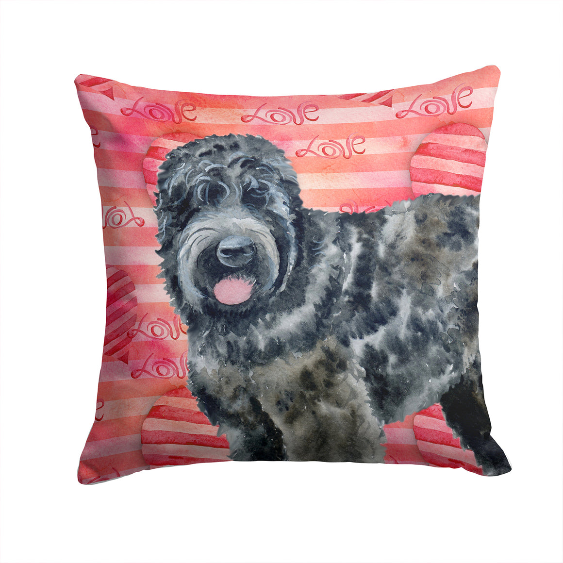 Buy this Black Russian Terrier Love Fabric Decorative Pillow BB9764PW1414