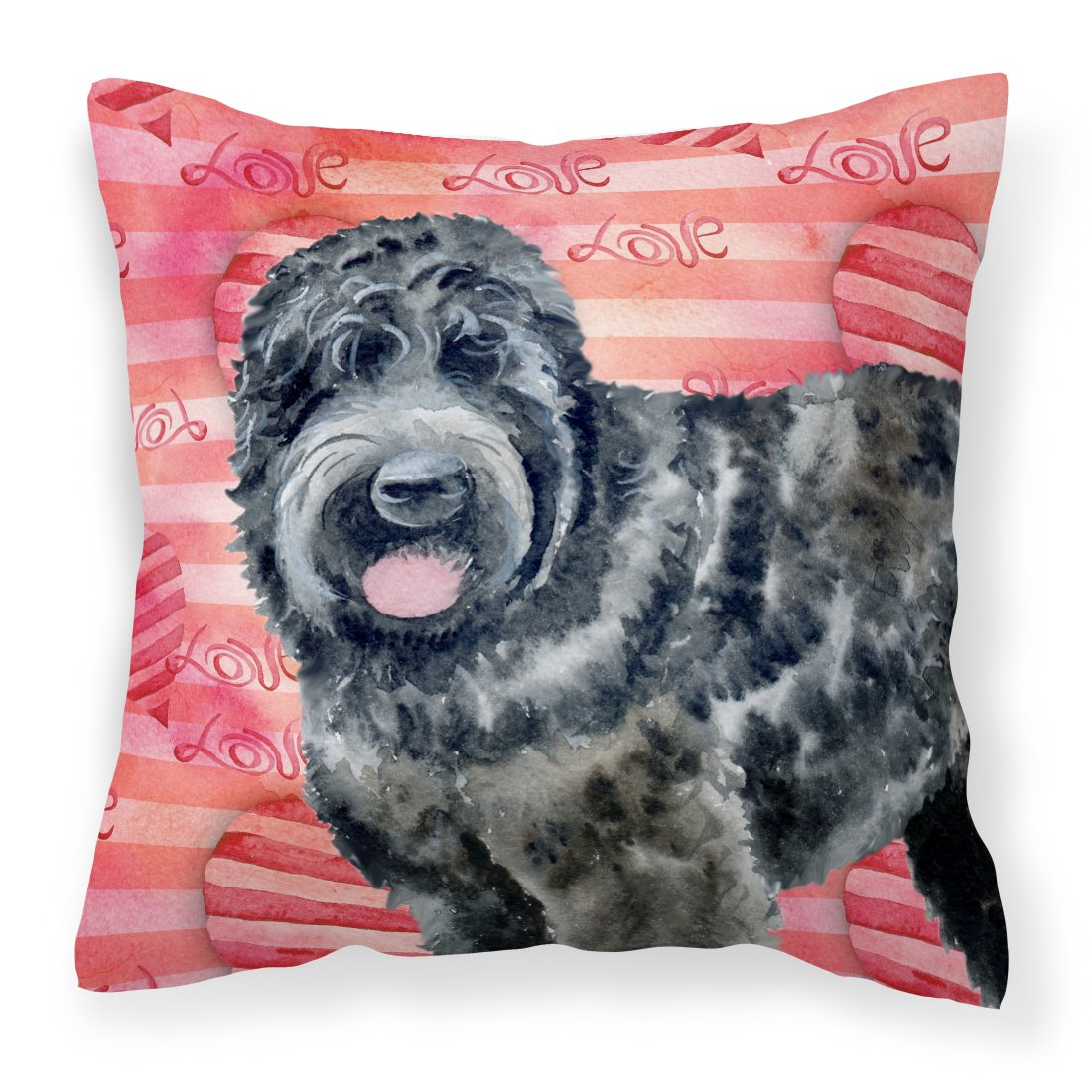 Buy this Black Russian Terrier Love Fabric Decorative Pillow BB9764PW1818