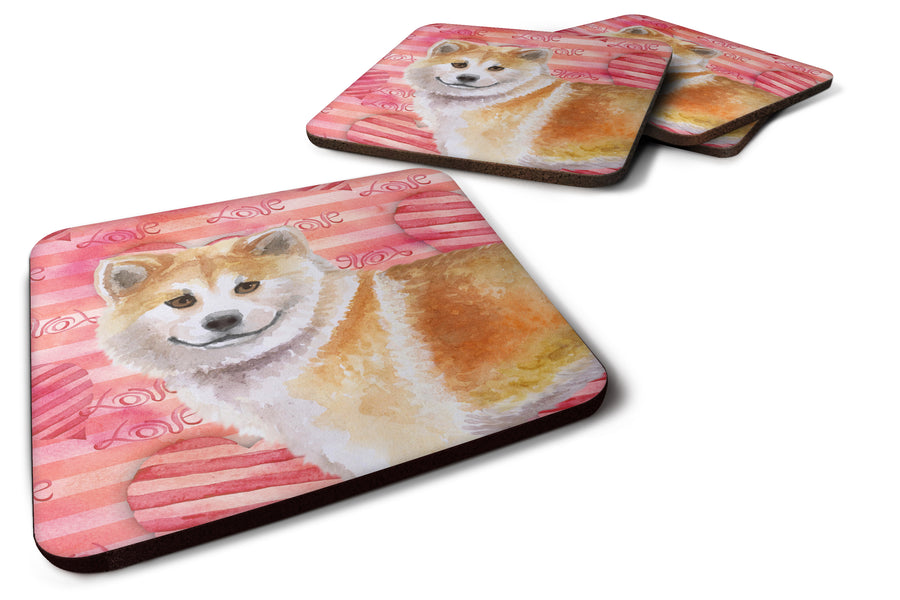 Buy this Shiba Inu Love Foam Coaster Set of 4 BB9765FC