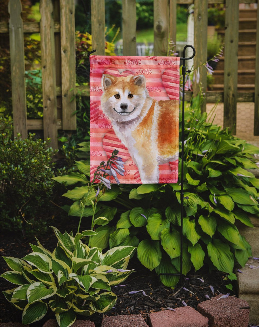 Buy this Shiba Inu Love Flag Garden Size BB9765GF
