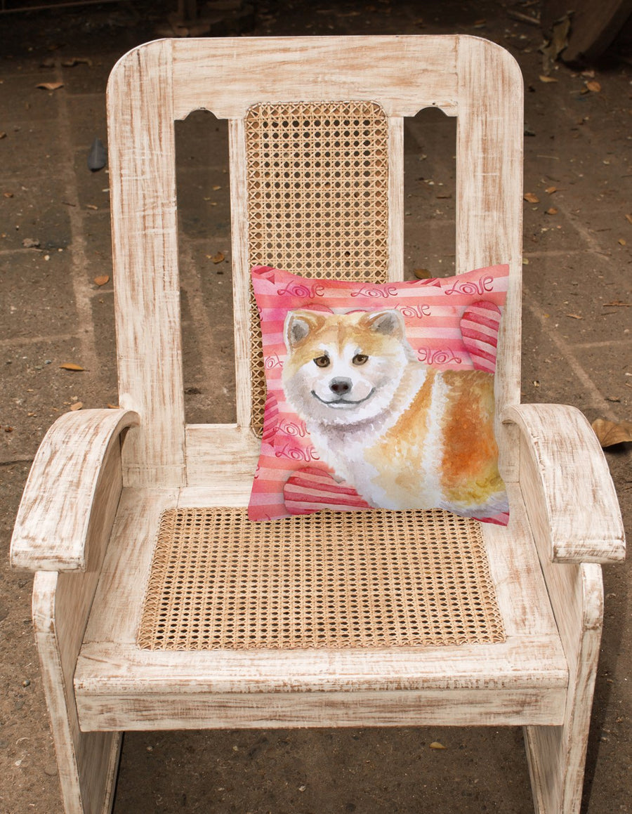 Buy this Shiba Inu Love Fabric Decorative Pillow BB9765PW1818