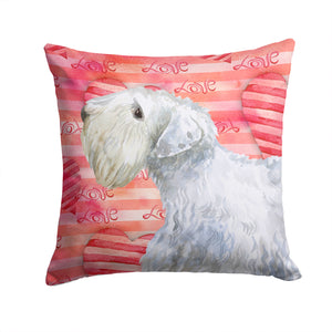 Buy this Sealyham Terrier Love Fabric Decorative Pillow BB9771PW1414