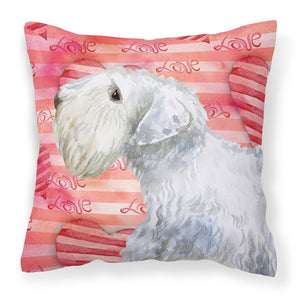 Buy this Sealyham Terrier Love Fabric Decorative Pillow BB9771PW1818