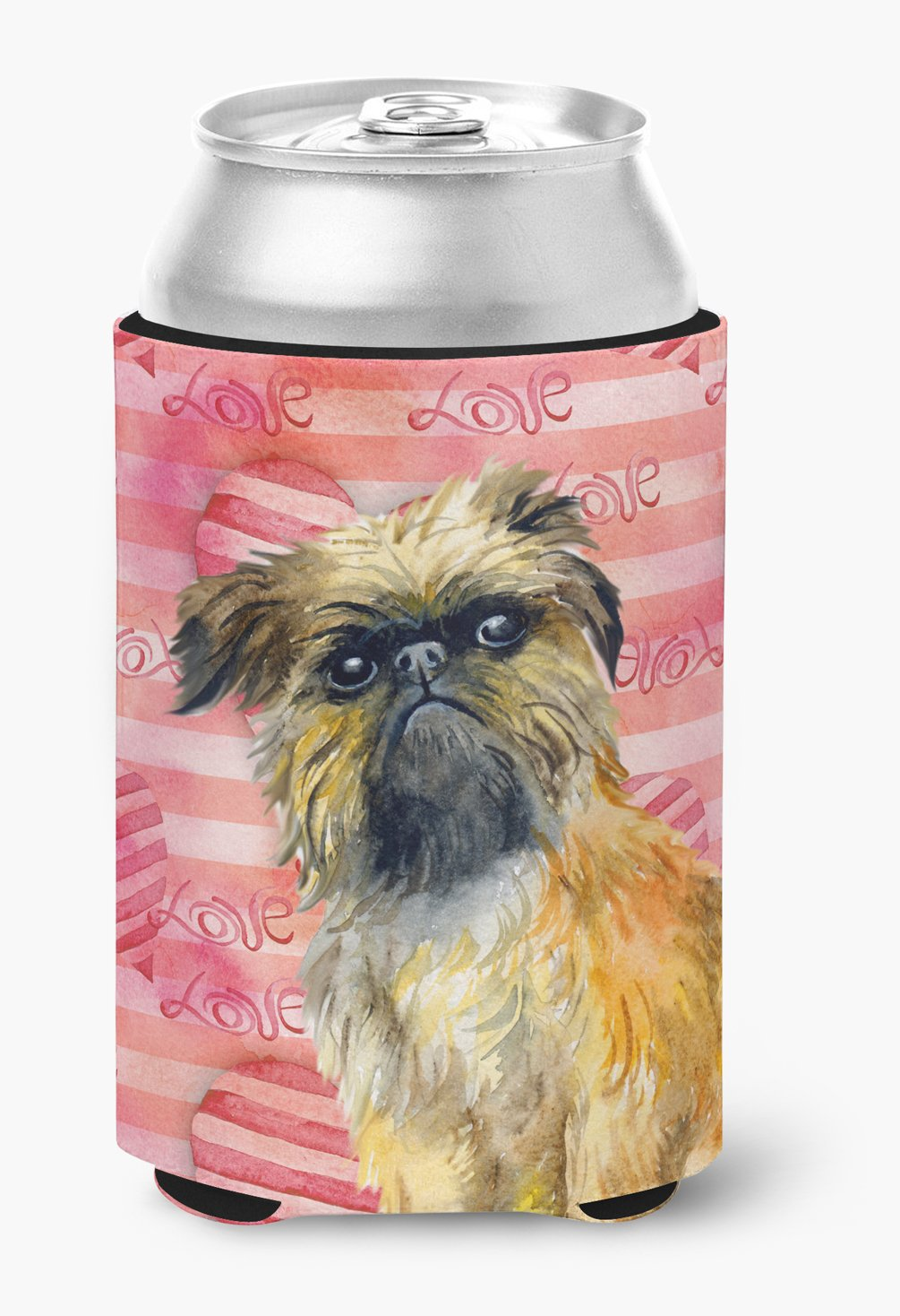 Brussels Griffon Love Can or Bottle Hugger BB9774CC by Caroline's Treasures