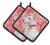 Buy this Bull Terrier Love Pair of Pot Holders BB9780PTHD