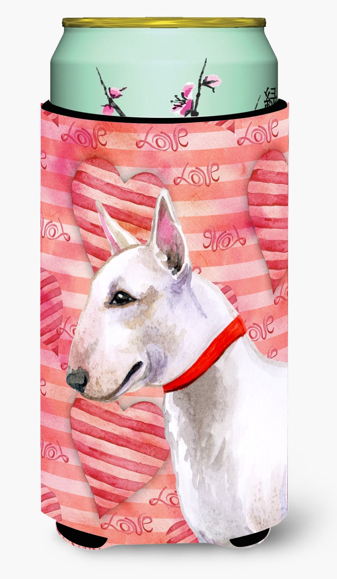 Bull Terrier Love Tall Boy Beverage Insulator Hugger BB9780TBC by Caroline's Treasures