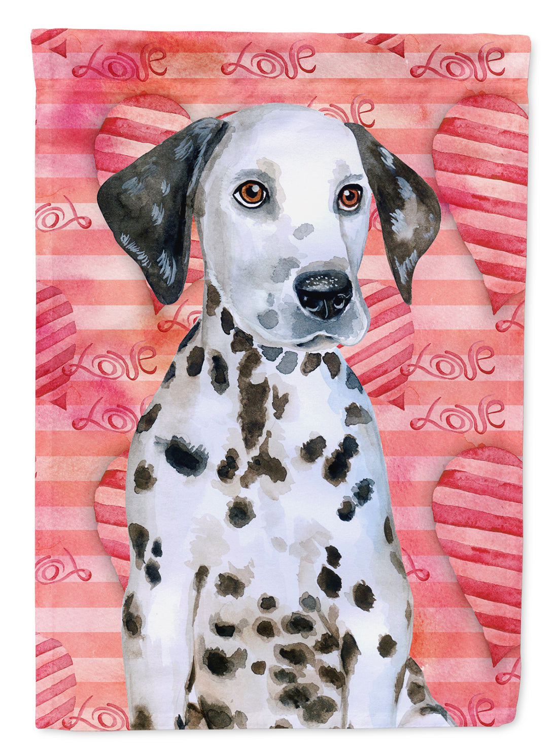 Dalmatian Puppy Love Flag Canvas House Size BB9795CHF by Caroline's Treasures