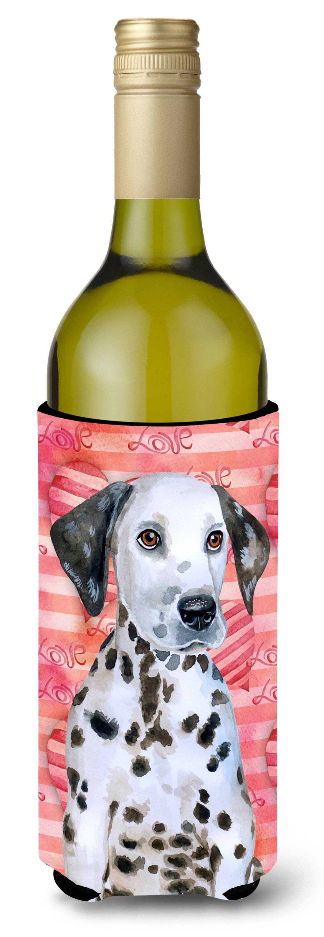Dalmatian Puppy Love Wine Bottle Beverge Insulator Hugger BB9795LITERK by Caroline's Treasures