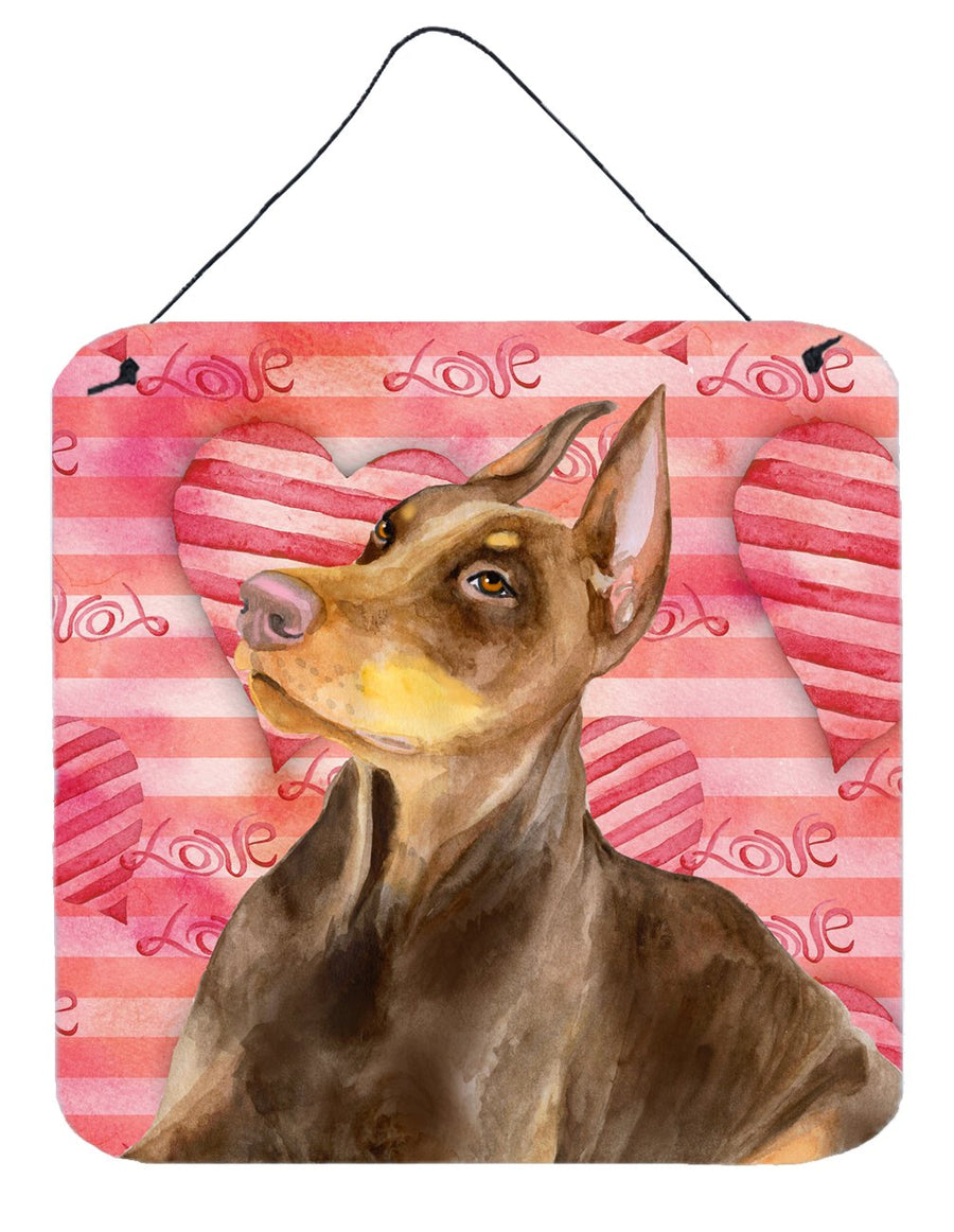 Buy this Doberman Pinscher Love Wall or Door Hanging Prints BB9796DS66