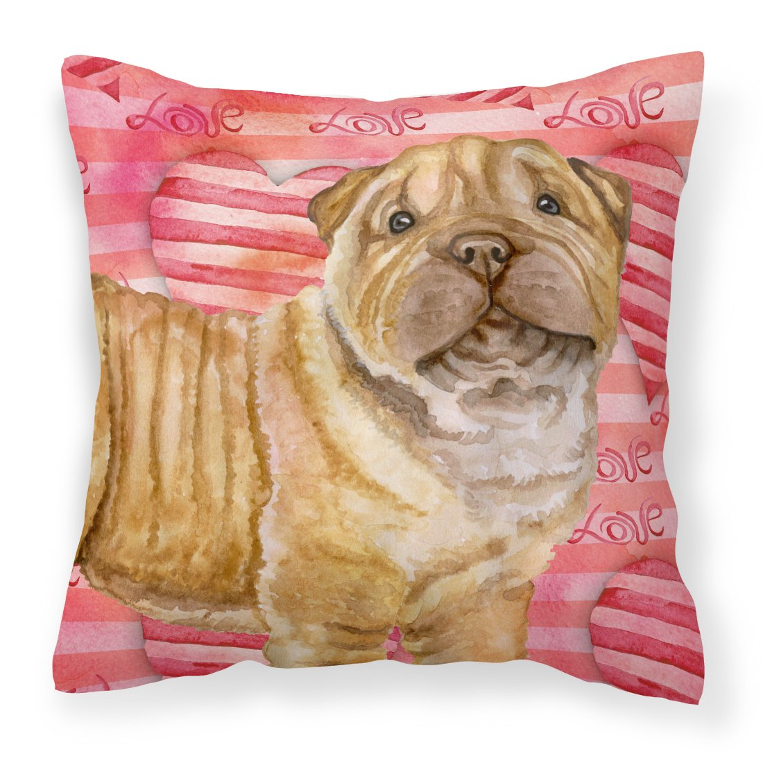 Buy this Shar Pei Puppy Love Fabric Decorative Pillow