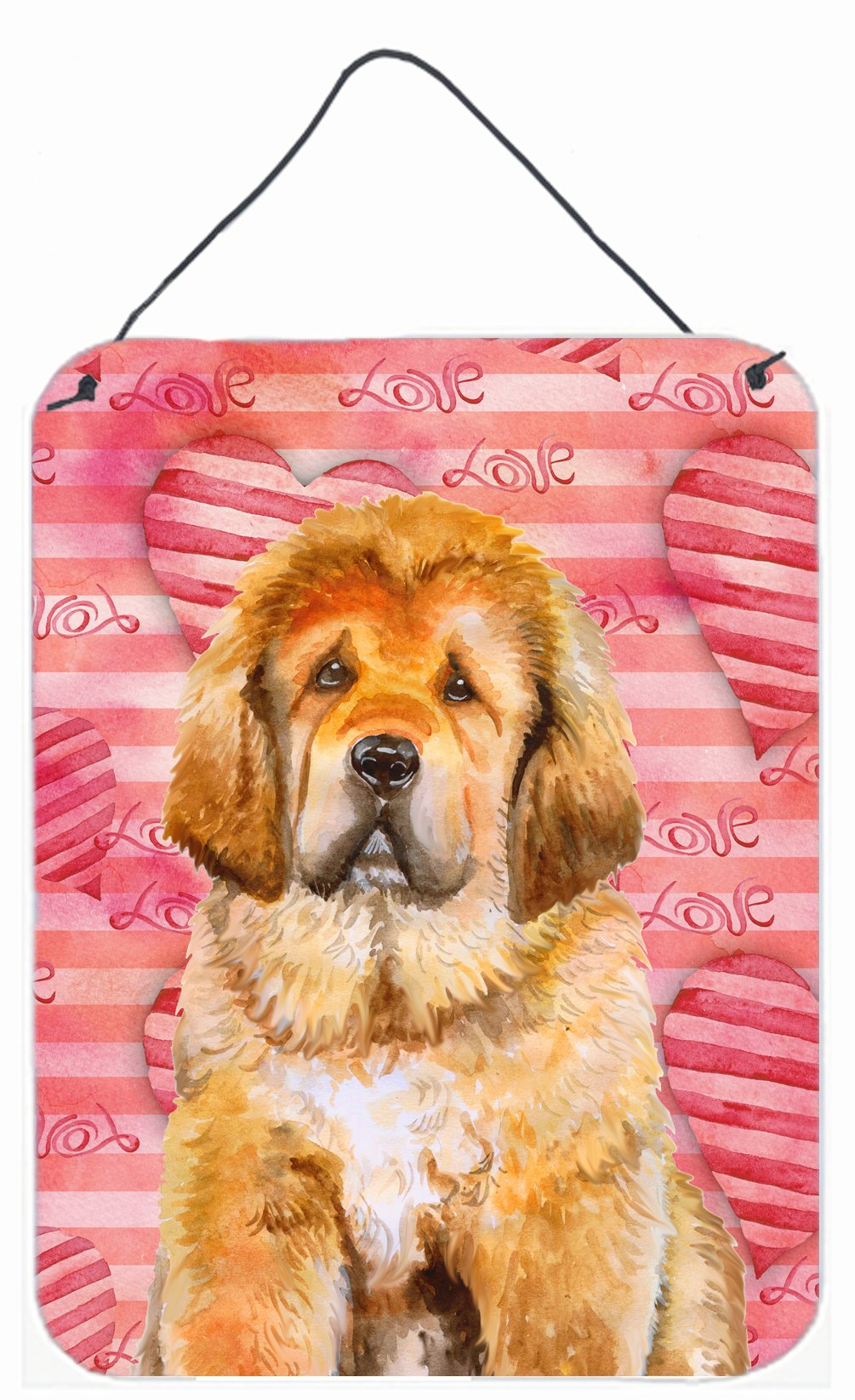 Tibetan Mastiff Love Wall or Door Hanging Prints BB9808DS1216 by Caroline's Treasures