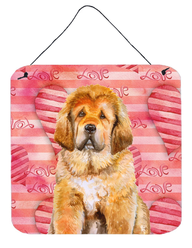 Buy this Tibetan Mastiff Love Wall or Door Hanging Prints BB9808DS66