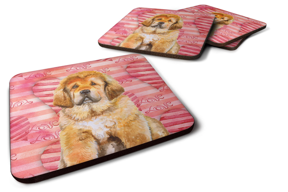 Buy this Tibetan Mastiff Love Foam Coaster Set of 4 BB9808FC