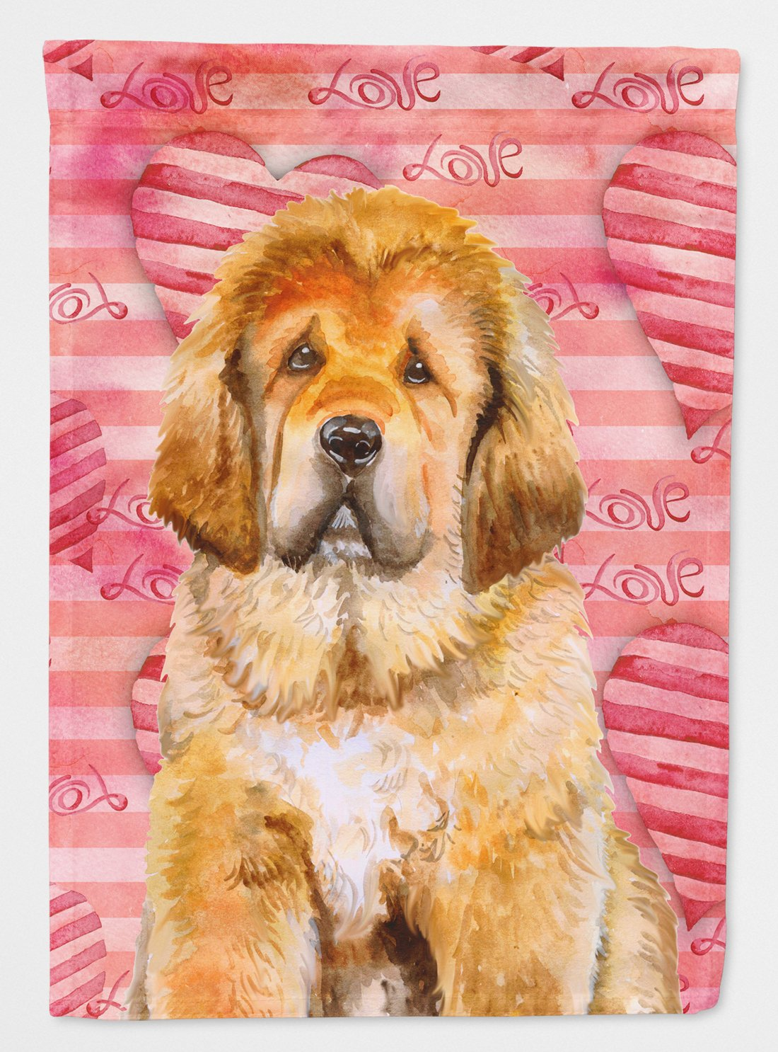 Tibetan Mastiff Love Flag Garden Size BB9808GF by Caroline's Treasures
