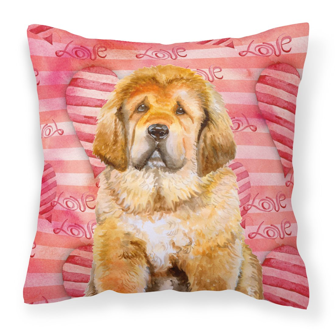 Buy this Tibetan Mastiff Love Fabric Decorative Pillow BB9808PW1818