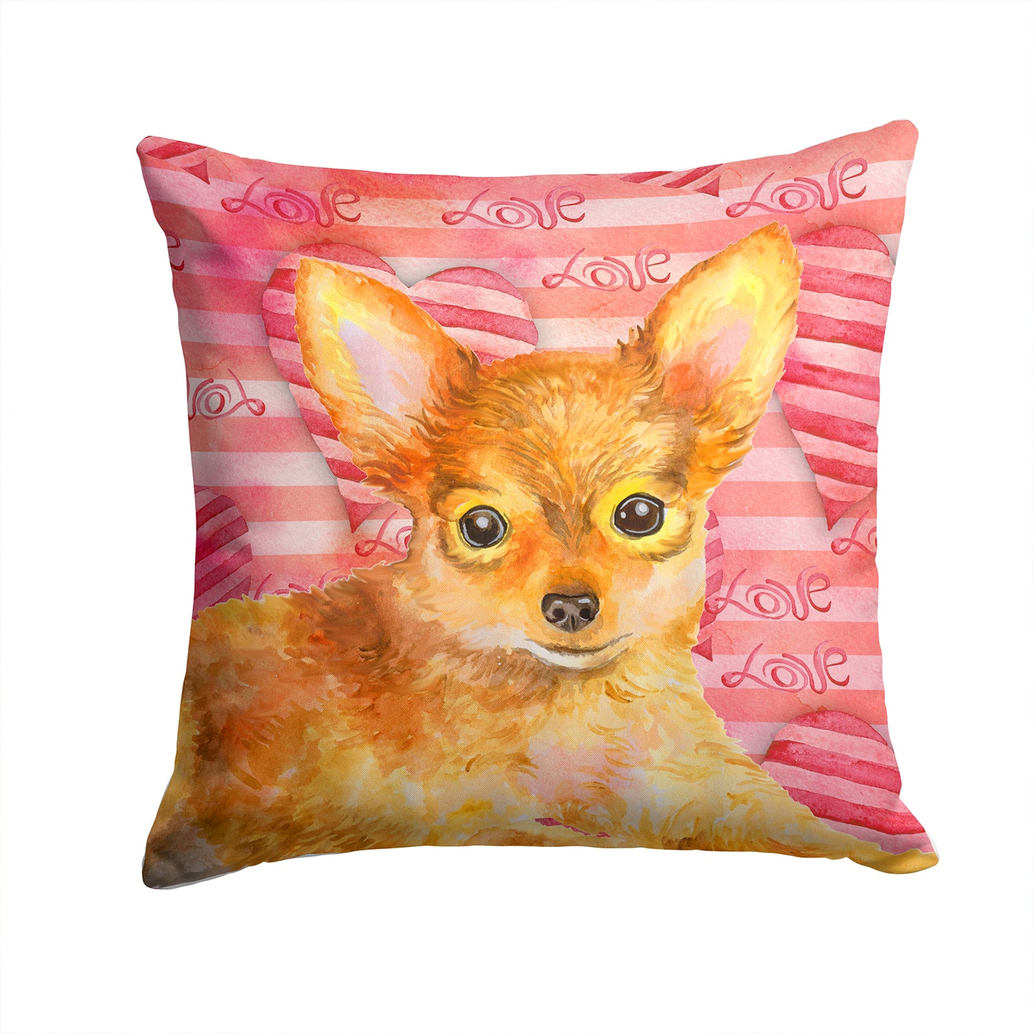 Buy this Toy Terrier Love Fabric Decorative Pillow BB9809PW1414