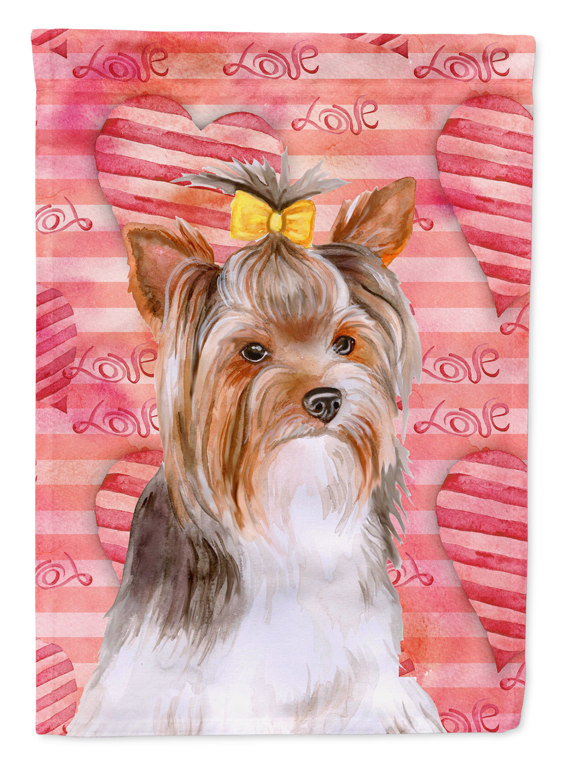 Yorkshire Terrier #2 Love Flag Canvas House Size BB9810CHF by Caroline's Treasures