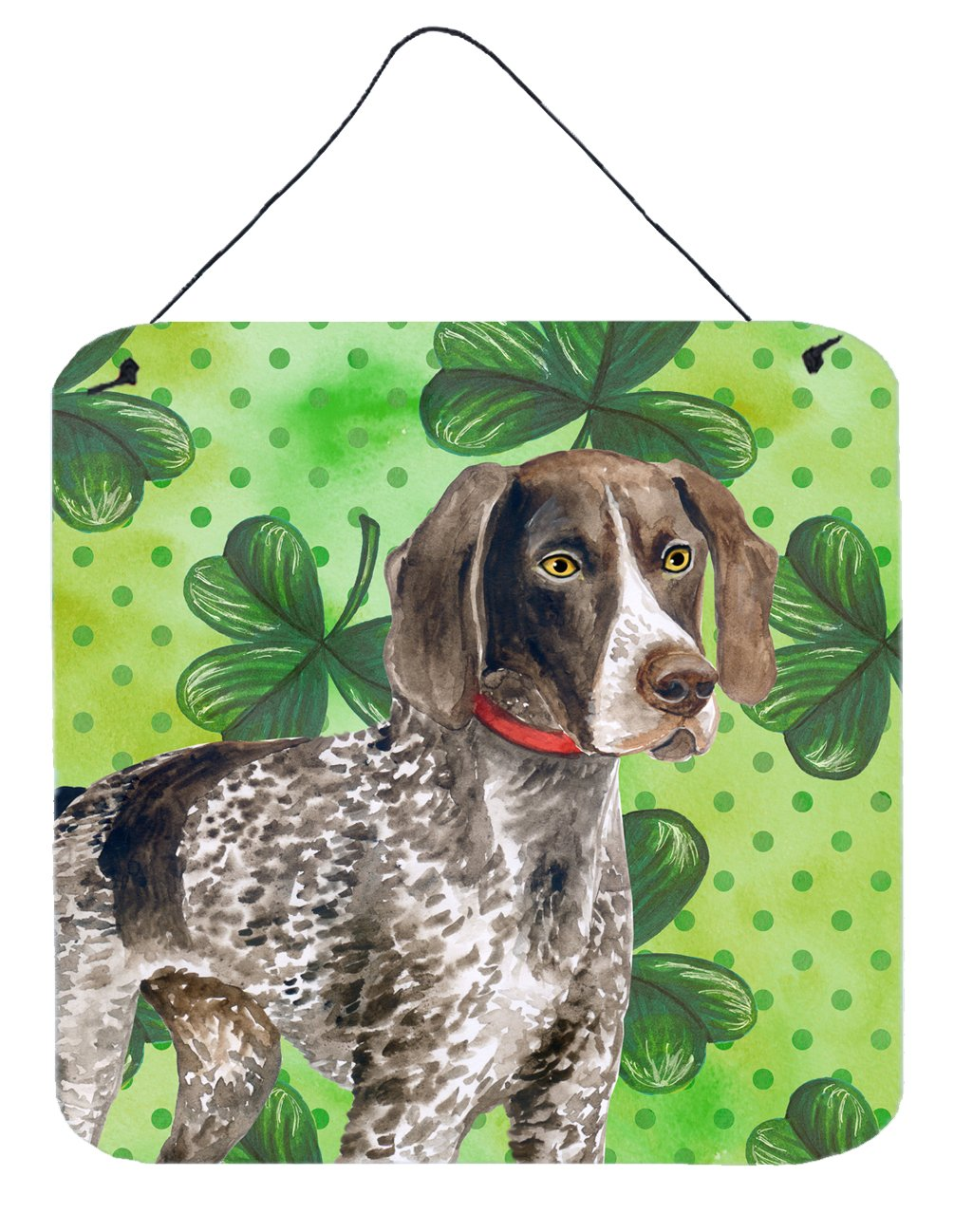 Buy this German Shorthaired Pointer St Patrick's Wall or Door Hanging Prints BB9815DS66