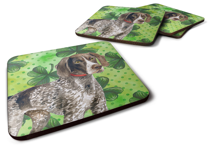 Buy this German Shorthaired Pointer St Patrick's Foam Coaster Set of 4 BB9815FC